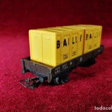 Trenes Escala: JOUEF TREN VAGON MERCANCIAS BAILLY ESCALA H0 . Lote 151201050