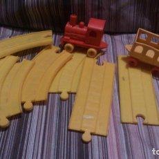 Trenes Escala: TRENECITO DE PLÁSTICO Y VÍAS. Lote 151670158