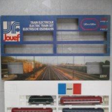 Trenes Escala: EXCEPCIONAL CAJA JOUEF - TRANS EURO NUIT - TRES VAGONES + LOCOMOTORA - CON CAJA MUY BUEN ESTADO. Lote 151712114