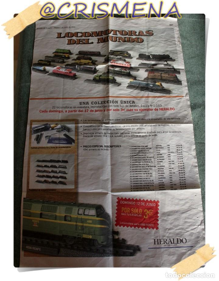 Trenes Escala: COLECCION DE LOCOMOTORAS DEL MUNDO HERALDO DE ARAGON VER FOTOS PARA ESTADO - Foto 2 - 152031138