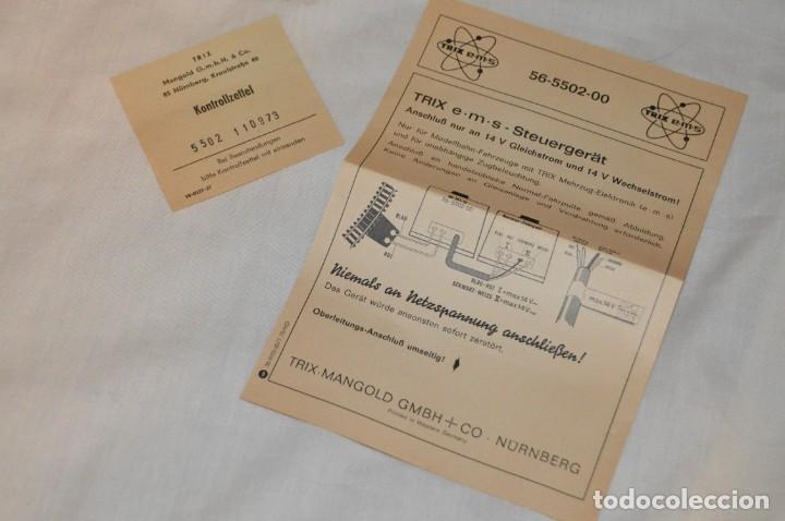 Trenes Escala: UNIDAD DE CONTROL REGULADOR - POTENCIOMETRO - TRIX - NOS - 56 5502 00 - NUEVO EN CAJA - ENVÍO 24H - Foto 8 - 152041174