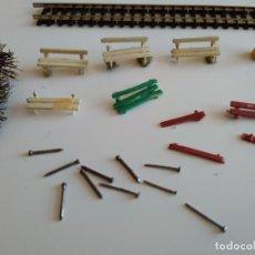 Trenes Escala: BANCOS Y OTROS PARA MAQUETA ESCALA N. Lote 152054142