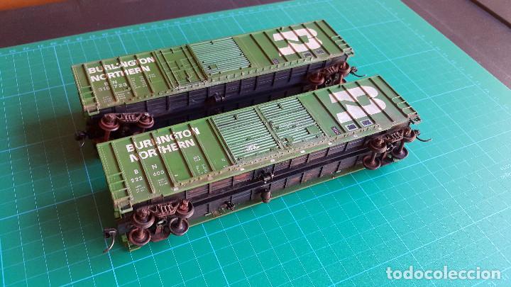 Trenes Escala: Walthers Lote de 2 Vagones Cerrados Burlington Northern Escala H0 - Foto 2 - 152143894