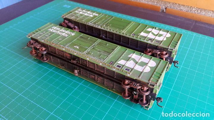 Trenes Escala: Walthers Lote de 2 Vagones Cerrados Burlington Northern Escala H0 - Foto 3 - 152143894