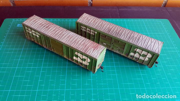 Trenes Escala: Walthers Lote de 2 Vagones Cerrados Burlington Northern Escala H0 - Foto 5 - 152143894