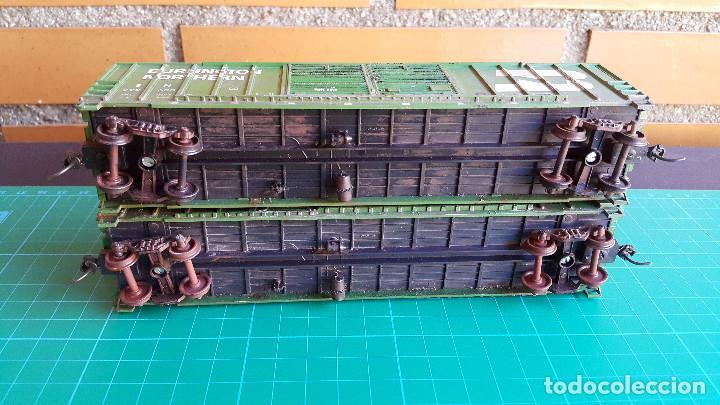 Trenes Escala: Walthers Lote de 2 Vagones Cerrados Burlington Northern Escala H0 - Foto 7 - 152143894