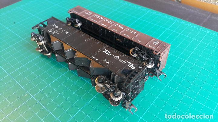Trenes Escala: Lote de 2 Vagones Americanos Tipo Góndola Escala H0 - Foto 3 - 152144770