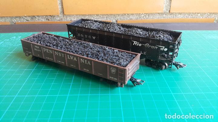 Trenes Escala: Lote de 2 Vagones Americanos Tipo Góndola Escala H0 - Foto 4 - 152144770