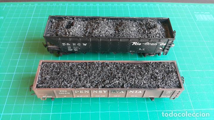 Trenes Escala: Lote de 2 Vagones Americanos Tipo Góndola Escala H0 - Foto 7 - 152144770