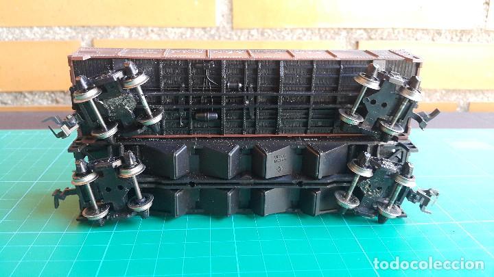 Trenes Escala: Lote de 2 Vagones Americanos Tipo Góndola Escala H0 - Foto 9 - 152144770