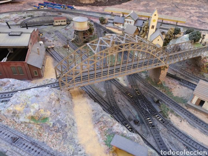Trenes Escala: Maqueta de tren marca marklín, más de 2 metros por 1 y medio ESCALA H0 - Foto 14 - 182561168