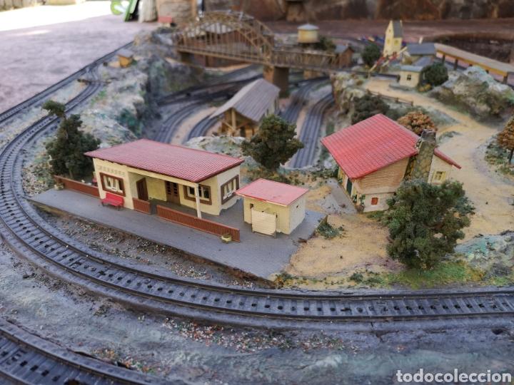Trenes Escala: Maqueta de tren marca marklín, más de 2 metros por 1 y medio ESCALA H0 - Foto 17 - 182561168