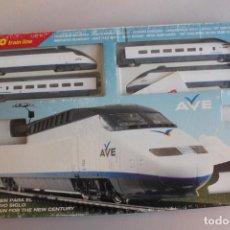 Trenes Escala: TREN AVE MEHANO ESCALA H0, T-682 EN CAJA. FUNCIONA. LUBRICAR Y FIJAR BIEN ENCAJES VÍAS. INF. 18FOTOS. Lote 155442230
