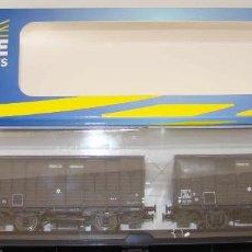 Trenes Escala: REE MODELES REF: WB-251 SET DE DOS VAGONES CERRADOS CHASIS OCEM EPOCA IIIA. Lote 156232398
