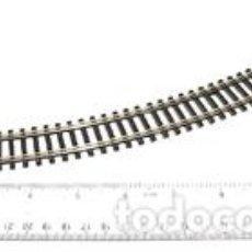 Trenes Escala: ST-226 TRAMO DE VIA DOBLE CURVA DE RADIO 2 ESCALA HO NUEVA MARCA PECO. Lote 156689538