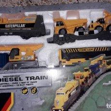 Trenes Escala: TREN DE LA CONSTRUCCION IRON DIESEL TRAIN CATEPILLAR , TREN DE JUGUETE, TREN GRUA. Lote 157441578