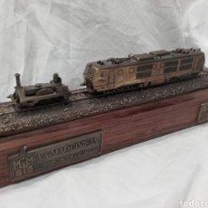 Trenes Escala: LA MAQUINISTA TERRESTRE Y MARÍTIMA, 125 ANIVERSARIO (1855-1980). MAQUETA DE BRONCE.. Lote 159342592