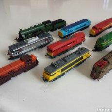 Trenes Escala: TREN.LOCOMOTORAS. LOTE DE 9 LOCOMOTORAS ESCALA 1:160. Lote 159500662