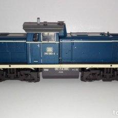 Trenes Escala: TRIX H0 22201 LOCOMOTORA DIESEL BR 290 DER DB IMPECABLE. Lote 159792226