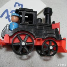 Trenes Escala: ESPECTACULAR MAQUINA DE TREN A VAPOR TAMAÑO MEDIANO CON FIGURA NUEVO MADE IN SPAIN. Lote 163137690