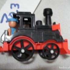 Trenes Escala: ESPECTACULAR MAQUINA DE TREN A VAPOR TAMAÑO MEDIANO CON FIGURA NUEVO MADE IN SPAIN. Lote 163138214