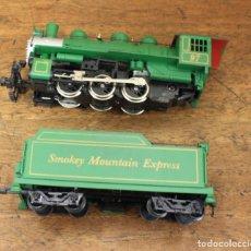 Trains Échelle: LOTE DE LOCOMOTORA Y VAGON SMOKEY MOUNTAIN EXPRESS. Lote 163746264
