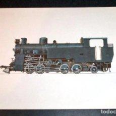 Trenes Escala: LOTE 5 LÁMINAS LOCOMOTORAS DE VAPOR. Lote 164137746