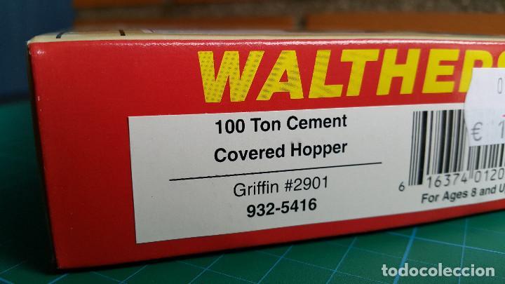Trenes Escala: Vagón Americano Walthers 100 Ton Cement Covered Hopper Escala H0 (Nuevo) - Foto 3 - 164682166