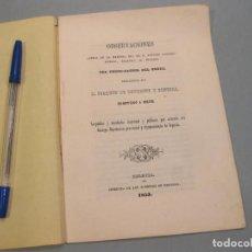 Trenes Escala: OBSERVACIONES FERROCARRIL DEL NORTE. ZAHONERO DE ROBLES. BOULIGNY Y FONSECA. SEGOVIA 1853. ÁVILA.. Lote 166606218