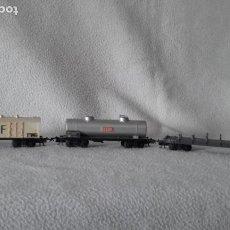 Trenes Escala: 3 VAGONES DE MERCANCÍAS JOUEF. ESCALA H0. Lote 166634010