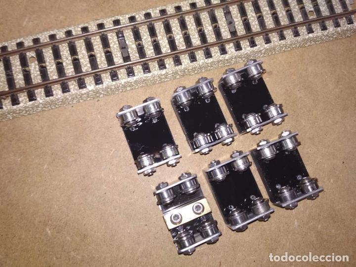 TRENES ESCALA H0. JUEGO DE RODILLOS CON RODAMIENTOS A BOLAS. BANCO DE PRUEBAS LOCOMOTORAS AC (Juguetes - Trenes Escala H0 - Otros Trenes Escala H0)