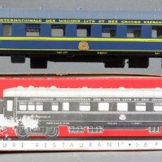 Trenes Escala: VAGÓN RESTAURANT WAGONS LITS JOUEF H0 CON CAJA REF 860. Lote 167795944