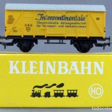Trenes Escala: VAGÓN MERCANCÍAS KLEINBAHN H0 INTERCONTINENTALE CON CAJA. Lote 167797744