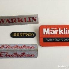 Trenes Escala: LOTE DE CHAPAS DE PUBLICIDAD ANTIGUAS DE MARKLIN , ELECTROTREN , IBERTREN . Lote 168188040
