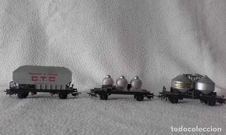 Trenes Escala: 3 vagones de mercancías Jouef. Escala H0 - Foto 3 - 168214184