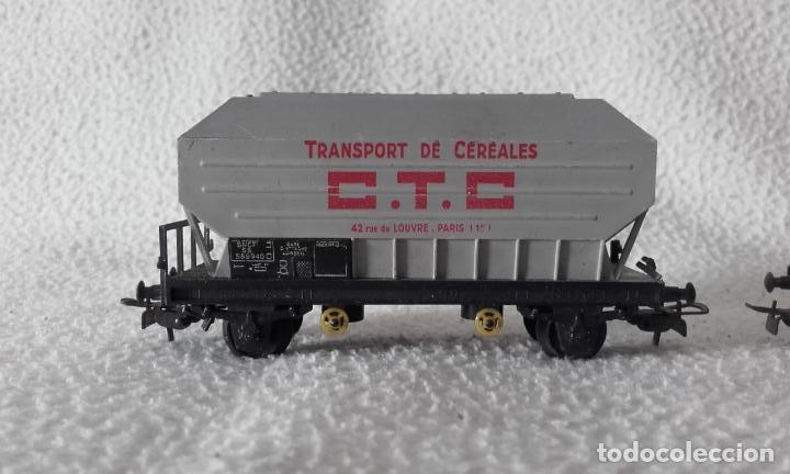 Trenes Escala: 3 vagones de mercancías Jouef. Escala H0 - Foto 6 - 168214184