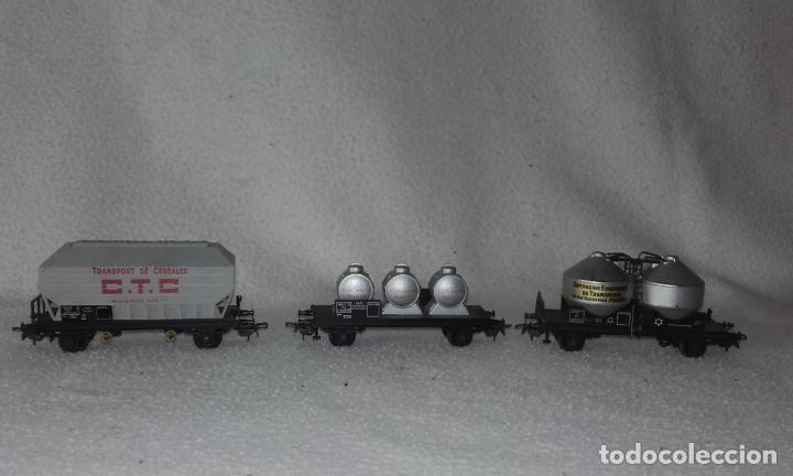 3 VAGONES DE MERCANCÍAS JOUEF. ESCALA H0 (Juguetes - Trenes Escala H0 - Otros Trenes Escala H0)