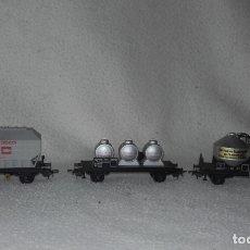 Trenes Escala: 3 VAGONES DE MERCANCÍAS JOUEF. ESCALA H0. Lote 168214184