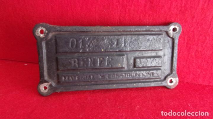 Trenes Escala: placa para vagon de tren,renfe,aluminio muy recio,hecha en valencia por maconsa - Foto 4 - 168338104