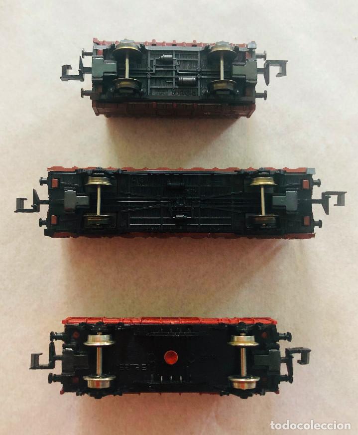 Trenes Escala: Lote vagones escala n. Mercancias con carga de madera. Dieferentes marcas - Foto 4 - 214159067