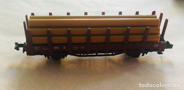 Trenes Escala: Lote vagones escala n. Mercancias con carga de madera. Dieferentes marcas - Foto 5 - 214159067