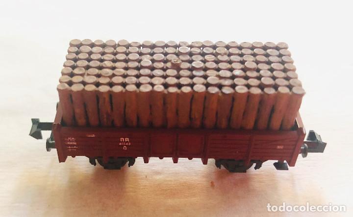 Trenes Escala: Lote vagones escala n. Mercancias con carga de madera. Dieferentes marcas - Foto 6 - 214159067