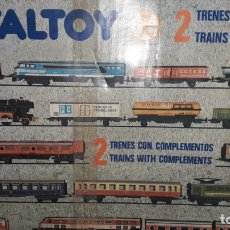 Trenes Escala: TREN VALTOY DOBLE MERCANCIAS / PASAJEROS, JUGUETE ANTIGUO, TREN DE JUGUETE, VALENCIANA DE JUGUETE. Lote 170020776