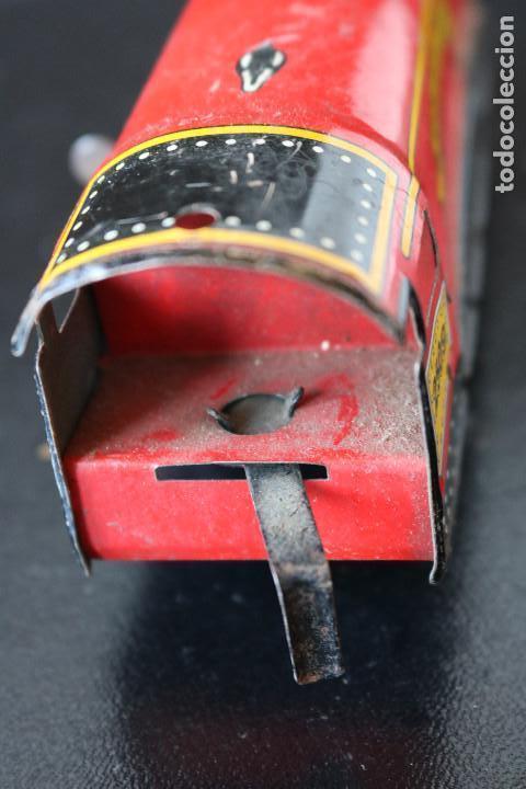 Trenes Escala: LOCOMOTORA DE HOJALATA - GOLDEN EAGLE 2509 - MECANISMO A CUERDA - MADE IN ENGLAND - FUNCIONA - Foto 4 - 170290904