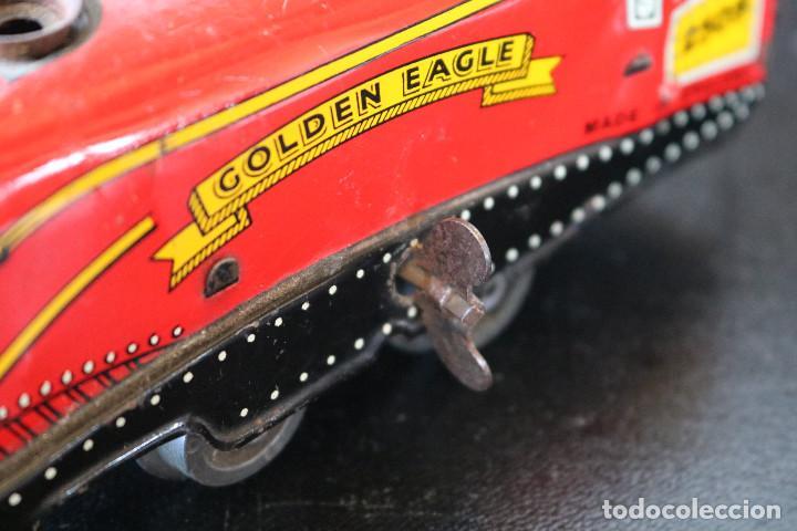 Trenes Escala: LOCOMOTORA DE HOJALATA - GOLDEN EAGLE 2509 - MECANISMO A CUERDA - MADE IN ENGLAND - FUNCIONA - Foto 6 - 170290904
