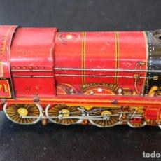 Trenes Escala: LOCOMOTORA DE HOJALATA - ROYAL SCOT 7171 - MECANISMO A CUERDA - MADE IN ENGLAND - FUNCIONA. Lote 170291616