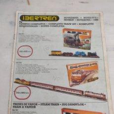Trenes Escala: CATÁLOGO IBERTREN NOVEDADES DE 1986. Lote 170429094