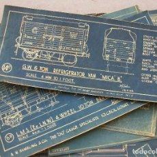 Trenes Escala: 42 DIBUJOS TECNICOS INGLESES PARA TRENES ESCALA 00 , AÑOS 40 APROX,, LA MAYOTIA DE HAMBLINGS & CO. Lote 172092834
