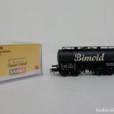 Trenes Escala: BRAWA H0 47060 VAGÓN CISTERNA KESSELWAGEN BIMOID NUEVO NEW OVP. Lote 175020790
