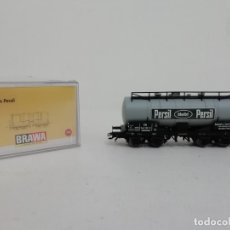Trenes Escala: BRAWA H0 47053 VAGÓN CISTERNA KESSELWAGEN PERSIL NUEVO NEW OVP. Lote 175020824